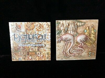 """Noah's Park Flamingo East Tile Picturesque """"The Figurines from Harmony Kingdom"""""""