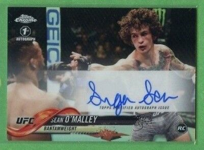 Sean O'malley 2018 Topps Ufc Chrome 1St Autograph Refractor Fa-Som Auto