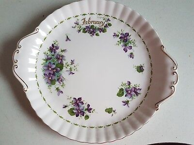 Vintage Royal Albert Bone China Decorative Plate Flowers of the Month February
