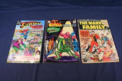 LOT of 3 Comics1967 1982 DC Superman Batman Wonder Woman 1953 #86 Fawcett Marvel