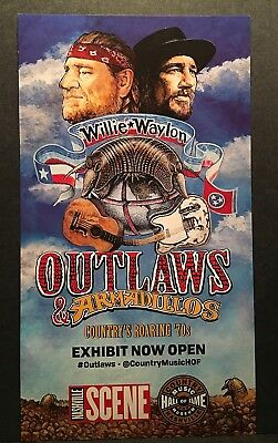 Outlaws and Armadillos Willie & Waylon Country Music Hall of Fame Poster Mint