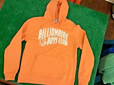 d6d0f3c2b4ca BBC Billionaire Boys Club Orange Hoodie SZ XL Arch Logo Sweatshirt Pharrell