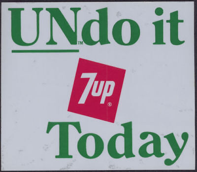 """1960's 7UP Undo it Door Decal part of the """"Uncola"""" campaign in the late 1960s"""