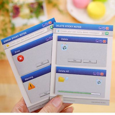 Novelty Computer System Shape Memo Pad Diy Diary Sticky Notes Office Supplies