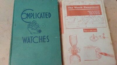 1959 Henry B Fried The Watch Escapement 1945 Orville R Hagans Complicated Watchs