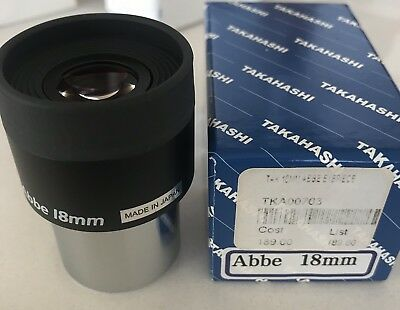 Takahashi 18mm Abbe Eyepiece(Made In Japan)