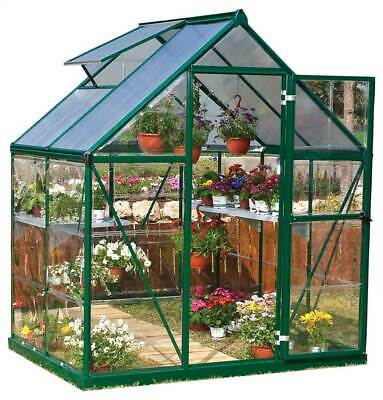 72.80 in. Polycarbonate Greenhouse in Forest Green [ID 3268931]