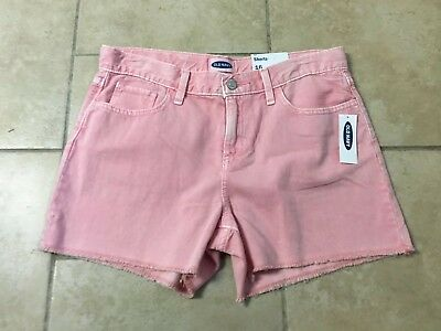 NWT Old Navy Distressed Pink Short Shorts, Girls Size 16