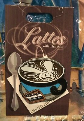 Disney Lattes with Character Oswald Pin The Rabbit LE 3000 Slight Tear Backing