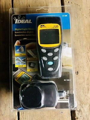 IDEAL 61-686 Digital Light Meter in Case New Never Used