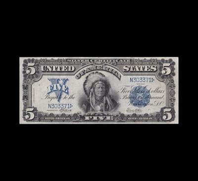 1899 $5 Silver Certificate Chief Strong Very Fine