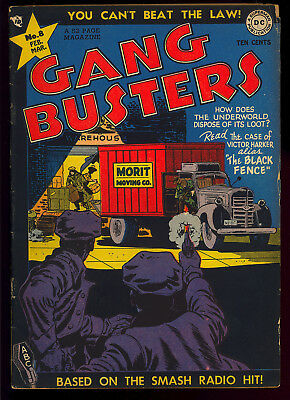 Gang Busters #8 Very Nice Pre-Code Golden Age DC Crime Comic 1949 VG+