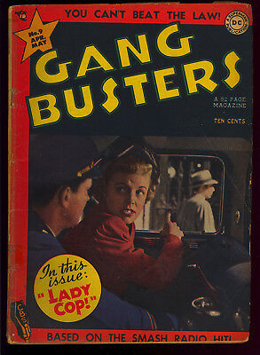 Gang Busters #9 Pre-Code Golden Age Photo Cover DC Crime Comic 1949 GD-