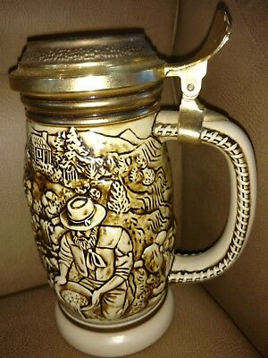 1987 Avon The Gold Rush Beer Stein Handcrafted In Brazil