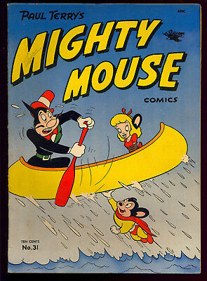 Mighty Mouse Comics #31 Nice Pre-Code Golden Age St. John Comic 1952 FN-
