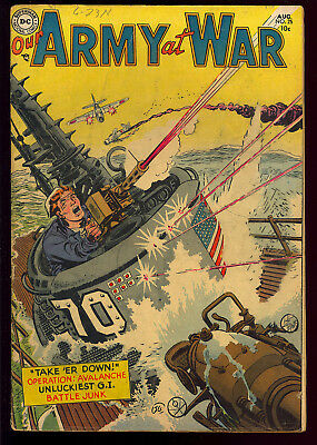 Our Army at War #25 Nice Pre-Code Golden Age DC War Comic 1954 VG