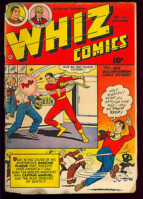 Whiz Comics #151 Low Distribution Golden Age Captain Marvel Fawcett 1952 FR