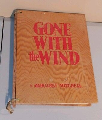 Gone With The Wind Motion Picture Edition P/B Book In Wood Protective Cover 1939