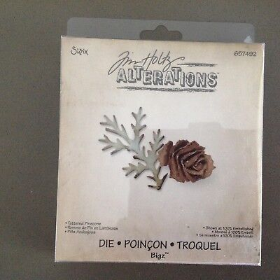 sizzix tim holtz alterations tattered pinecone 657492