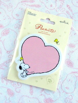 Lovely!! SNOOPY & WOODSTOCK (PEANUTS) *Heart*  Post It/Sticky Notes from Japan