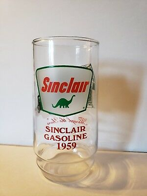 SINCLAIR GASOLINE Through the Years Drinking Glass 1959 Dino Advertising
