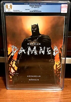 Batman Damned #2 Jim Lee Variant Cgc 9.9 In Hand 2018 Dc Black Label Hot Like 1