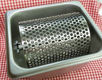 "Butter / Oil Roller 4.75"" Perforated Wheel Stainless Spreader Bun Bread Toast"