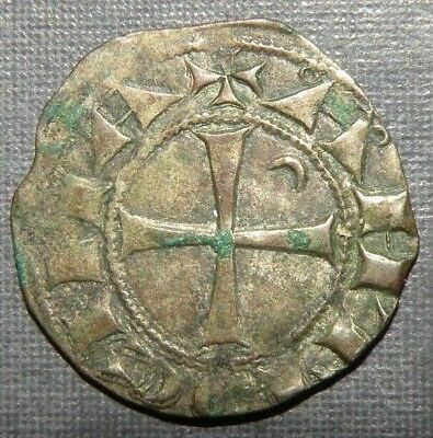 Medieval Coin Silver 1100-1250AD Ancient Antique Crusader Cross Templar Knight