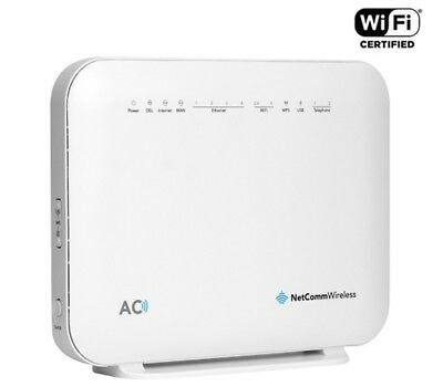 Netcomm NF18ACV AC1600 Wi-Fi XDSL Modem Router With Voice, NBN, 4x Giga Lan, 2x