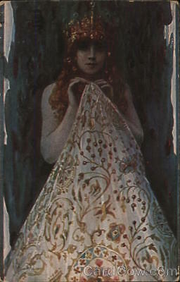 Women S. Solomko Pearl of the Creation Postcard