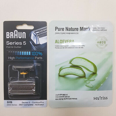 Braun Foil Cutter 51S + Masksheet Shaver Replacements 8000 Series 510 8385 C&R