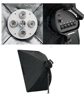 Photography 5 Heads Socket with Softbox for Continuous Lighting Video Studio
