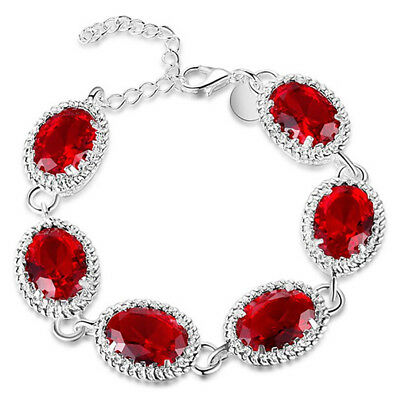 Bracelet Silver Bracelets For Women Fashion Jewelry Turquoise Red A2Y1
