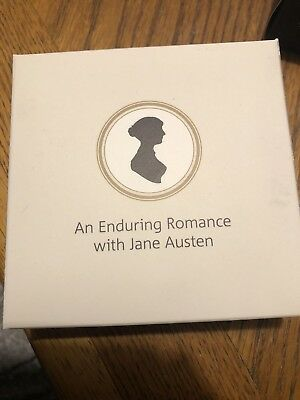 jane austen 2017 uk £2 silver proof piedfort coin Coa 2428