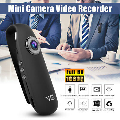 HD 1080P Mini Camcorder Dash Cam Body Motorcycle Bike Motion Action Video BN