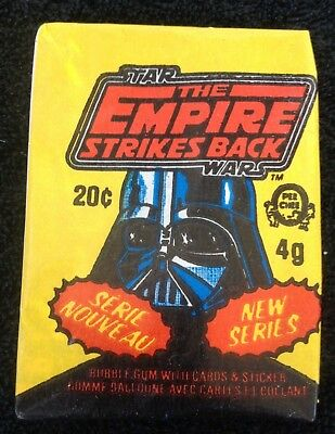 1981 Star Wars The Empire Strikes Back O-Pee-Chee YELLOW - Wax Pack Cards (#51)