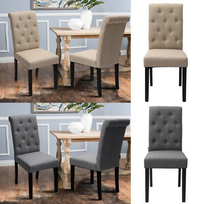 2 4 x upholstered scroll back dining chair living room fabric side seat oak leg