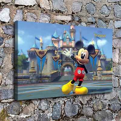 Mickey Mouse Poster HD Canvas prints Home Decor Picture Wall art Picture C_X327