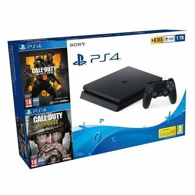 Consola Sony Slim Ps4 1Tb + Call Of Duty Black Ops 4 + Call Of Duty.wwii