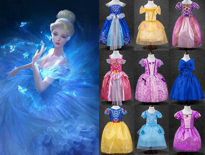 Frozen Girl's Elsa & Anna Costume Cosplay Principessa Toddler Abiti da festa New