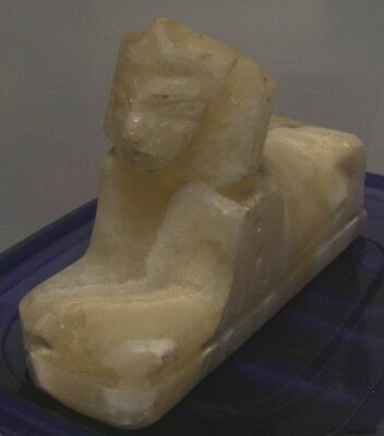 Egyptian Alabaster Stone Sphinx Statue Paperweight