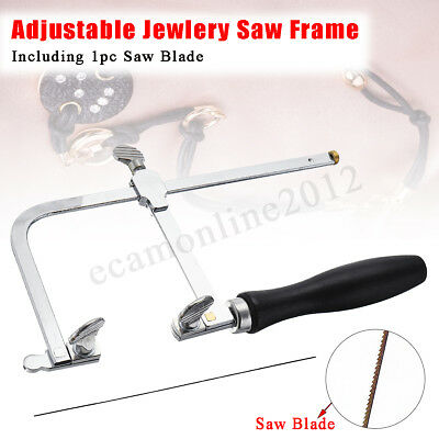 Adjustable Jewelry Saw Frame DIY Jeweler Making Repair Tool With 1Pcs Blade