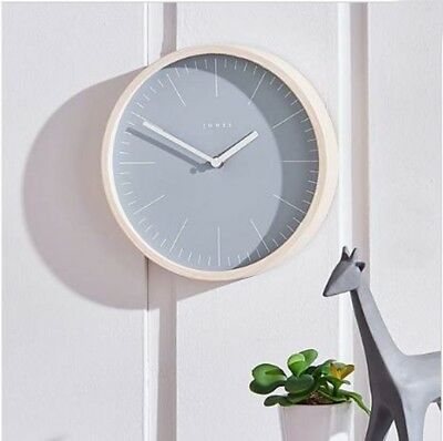 MND Jones Blue Penny Wood Effect Blue Face Clock With a Marker Dial For Bedroom.