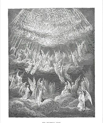 """The Heavenly Choir"" Divine Comedy: Paradise -  After Gustave Doré  - c1868"
