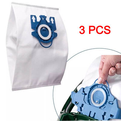 3Pc 3D Efficiency Vacuum Hoover Cleaner Dust Bags For Miele GN Hyclean Cleaner