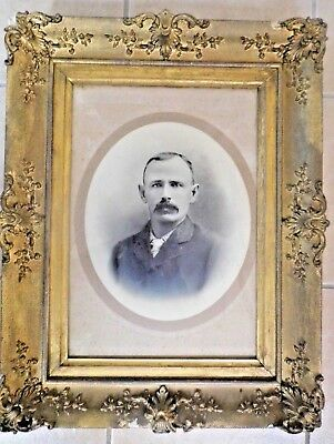 antique Picture Frame Victorian large 19th century gold