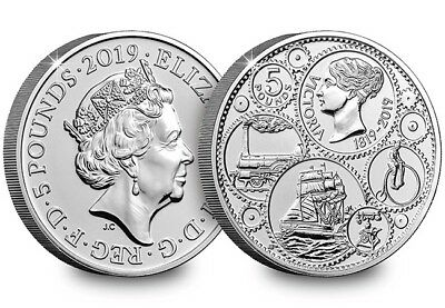 2019 Queen Victoria £5 Brilliant Uncirculated coin five pounds NEW!!!!