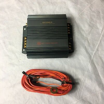 Optimus High Power Stereo Amplifier 50 Watts Car ? Untested   #F