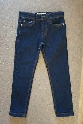 boys blue stretch skinny fit jeans age 5 years from matalan
