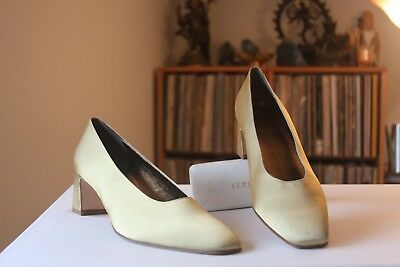 e417d94782a5 Amalfi For Nordstrom Gold Fabric 2 1 4 Inch Heel Pumps Size 11 B Made
